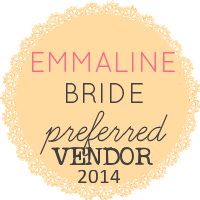 Emmaline Bride button